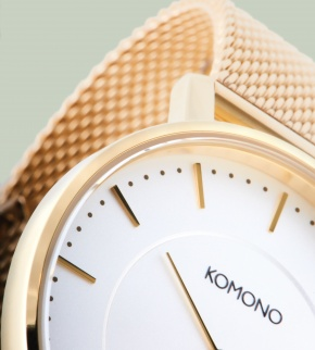Watches Komono Harlow Gold Mesh