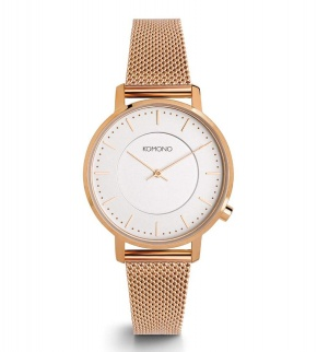 Watches Komono Harlow Rose Gold Mesh