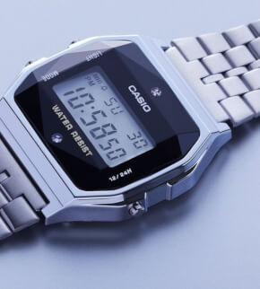 Watches Casio A158WEAD-1EF with diamonds