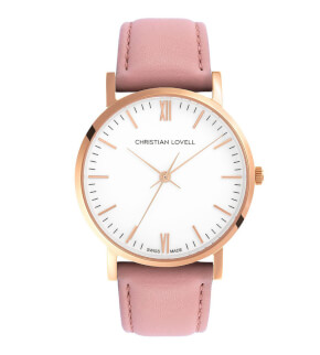 Watches Christian Lovell Premiere Rose Gold White Pink