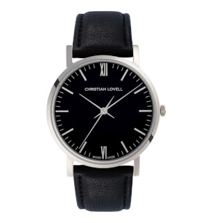 Watches Christian Lovell Premiere Silver Black Black