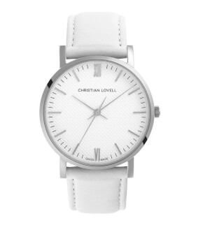 Watches Christian Lovell Premiere Silver White White Strap