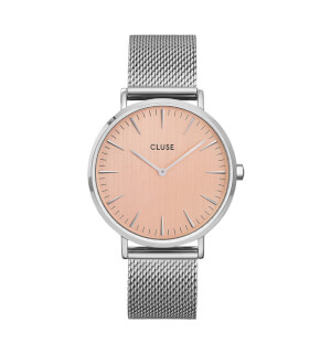 Watches Cluse Boho Chic Mesh Bicolour Silver Pink