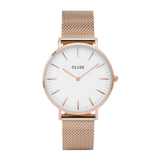 Watches Cluse La Bohème Mesh Rose Gold/White