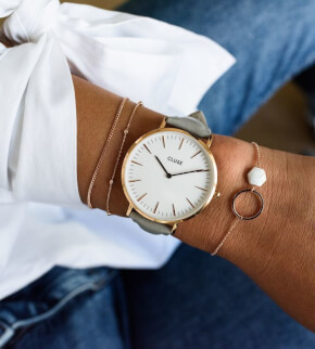 Watches Cluse La Bohème Rose Gold White/Grey