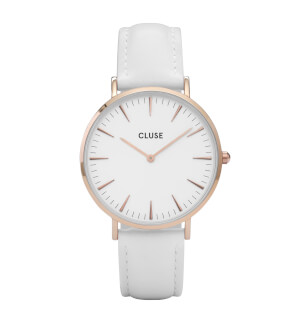 Watches Cluse La Bohème Rose Gold White/White
