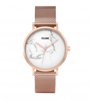 Watches Cluse La Roche Mesh Rose Gold/White Marble