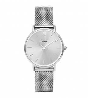 Watches Cluse Minuit Mesh Full Silver
