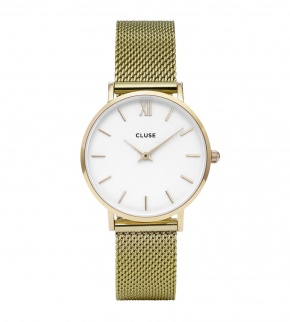 Watches Cluse Minuit Mesh Gold/White