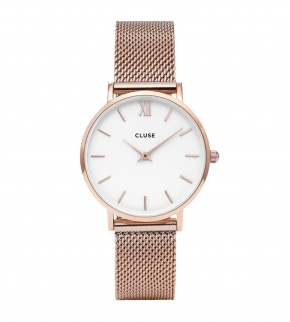 Watches Cluse Minuit Mesh Rose Gold/White