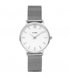 Watches Cluse Minuit Mesh Silver/White