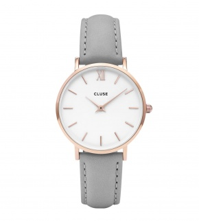 Watches Cluse Minuit Rose Gold White/Grey