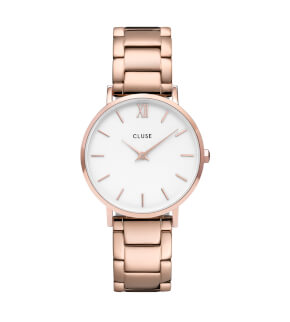 Watches Cluse Minuit Steel White, Rose Gold Colour