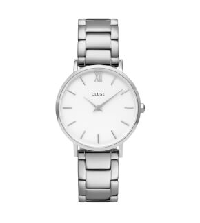 Watches Cluse Minuit Steel White, Silver Colour
