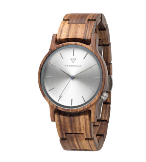 Watches Kerbholz Gitta Zebranowood
