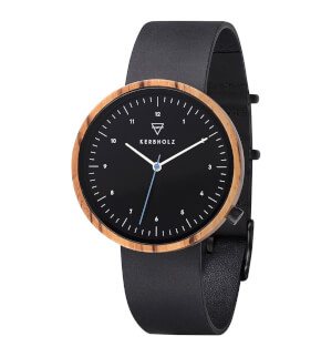 Watches Kerbholz Heinrich Zebranowood Midnight Black