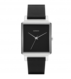 Watches Komono Konrad Black Silver Classic