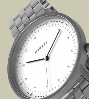 Watches Komono Lewis Estate Silver