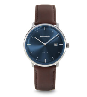 Watches Lambretta Volta 39 Leather Blue Brown