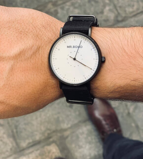 Watches Mr. Boho Metalic Casual Black White
