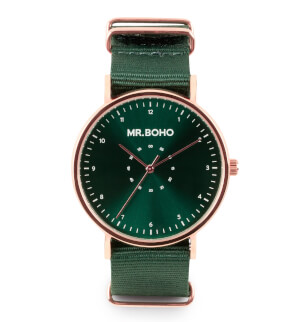 Watches Mr. Boho Metalic Casual Copper Green
