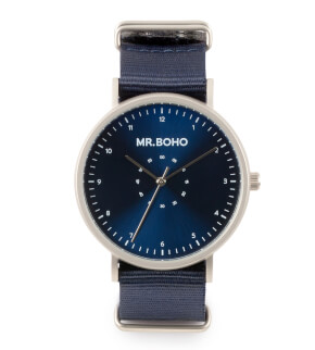 Watches Mr. Boho Metalic Casual Iron Blue