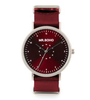 Watches Mr. Boho Metalic Casual Iron Burgundy