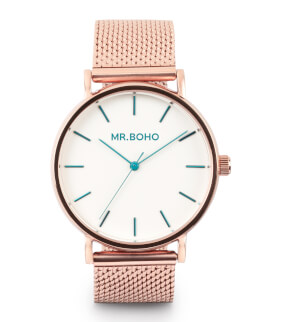 Watches Mr. Boho Metallic Cadet Copper Emerald Traits