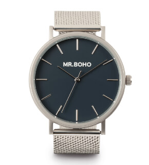 Watches Mr. Boho Metallic Classic Iron Blue