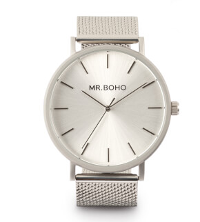 Watches Mr. Boho Metallic Classic Monochrome Iron