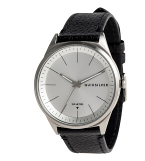 Watches Quiksilver Bienville Leather Silver Silver Black SJA0