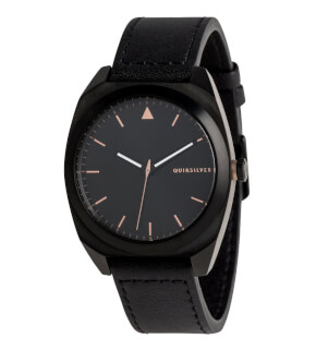 Watches Quiksilver The PM Leather Black XKMK