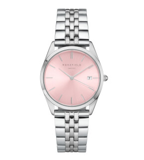 Watches Rosefield The Ace Pink Sunray Silver