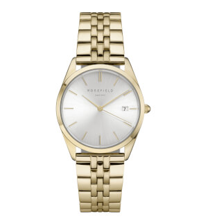Watches Rosefield The Ace Silver Sunray Gold