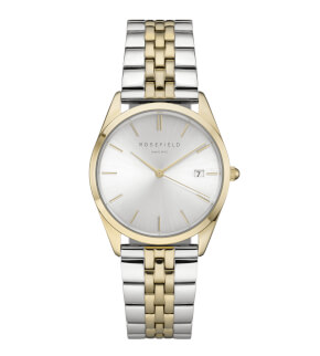Watches Rosefield The Ace Silver Sunray Silver Gold duo