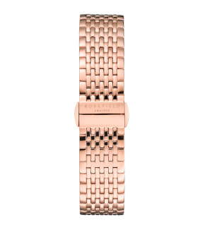 Watches Rosefield The Boxy White Sunray Steel Rosegold