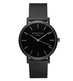 Watches Rosefield The Gramercy Full Black