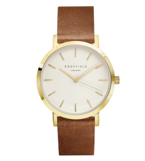 Watches Rosefield The Gramercy Gold White/Brown