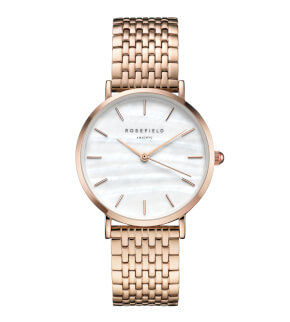 Watches Rosefield The Upper East Side Rosegold White Pearl