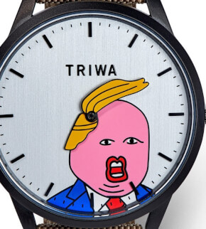 Watches Triwa Comb-Over black Donald Trump