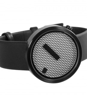 Watches Nava Jacquard Black 39mm Leather