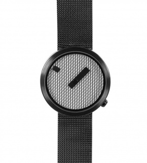 Watches Nava Jacquard Black 39mm Mesh