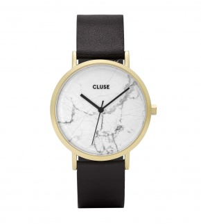 Watches Cluse La Roche Gold White Marble/Black