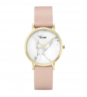 Watches Cluse La Roche Petite Gold White Marble/Nude