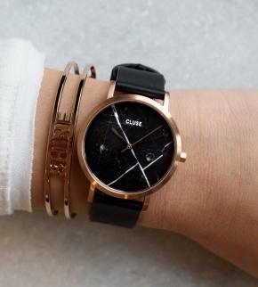 Watches Cluse La Roche Petite Rose Gold Black Marble/Black