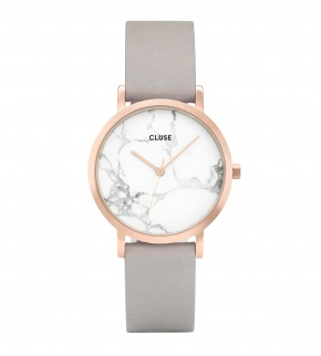 Watches Cluse La Roche Petite Rose Gold White Marble/Grey
