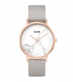 Watches Cluse La Roche Rose Gold White Marble/Grey