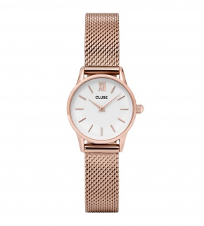 Watches Cluse La Vedette Mesh Rose Gold/White