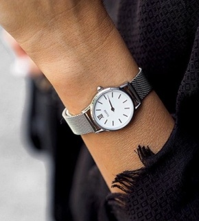 Watches Cluse La Vedette Mesh Silver/White