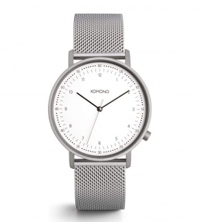 Watches Komono Lewis Silver Mesh
